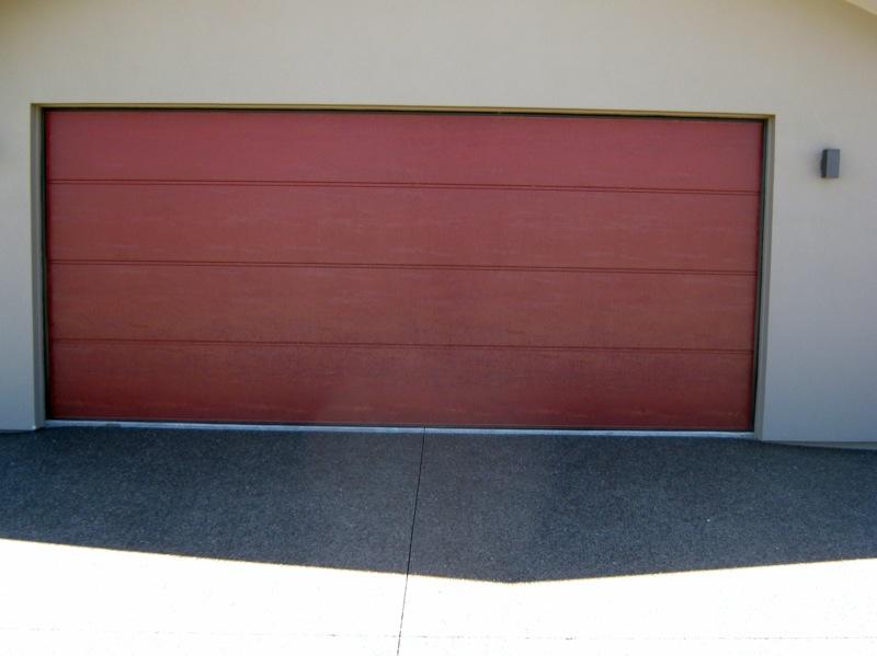 Flatline Embossed Garage Door