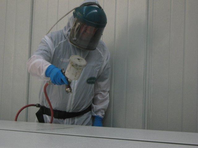 Spraying Paint Coat